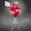 humorous photo man tripod legs lens eyes flash softbox photographer